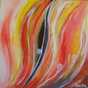 Adamas Acrylmalerei 50 x 50 cm