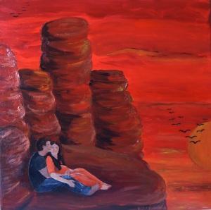 Urvertrauen, Acrylmalerei 50 x 50 cm