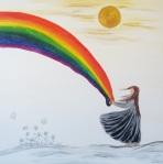 Regenbogen am Tag