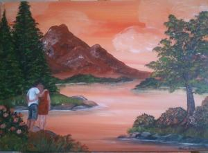 Zeit zum Träumen - Acrylmalerei