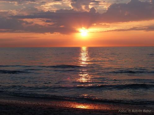 Sonnenuntergang an der Ostsee, hier bei Graal-Müritz
