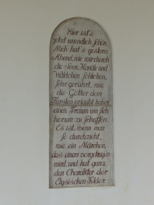 Goethes Brief Seite 1